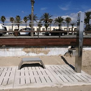 Fuente oceanic con banco instalada