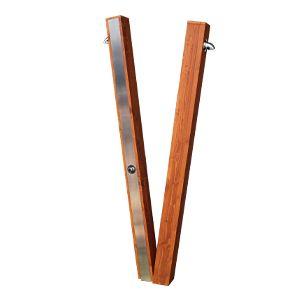 Duchas exterior acero inoxidable y madera Win